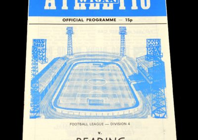 Wigan v Reading 18.11.1978