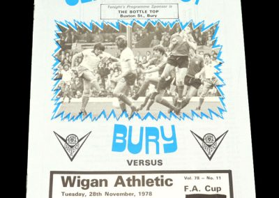 Wigan v Bury 28.11.1978 - FA Cup 1st Round Replay