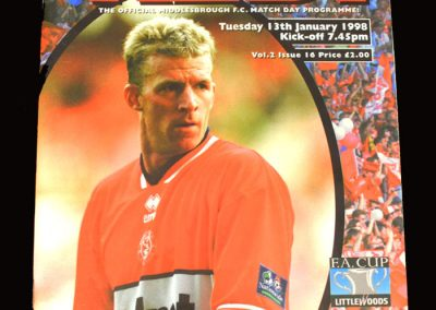 Middlesbrough v QPR 13.01.1998 - FA Cup 3rd Round Replay