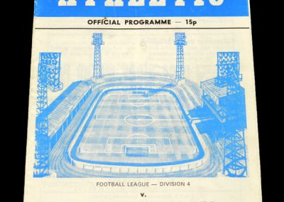 Wigan v Torquay 02.12.1978 (Postponed)