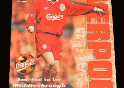 Middlesbrough v Liverpool 27.01.1998 - League Cup Semi Final 1st Leg