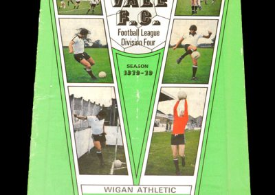 Wigan v Port Vale 09.01.1978 9.1.79 (postponed from 22.12.78)