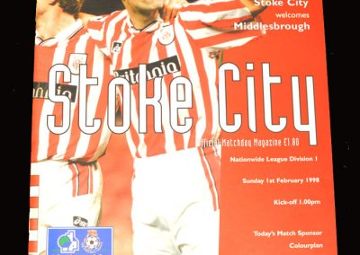 Middlesbrough v Stoke 01.02.1998