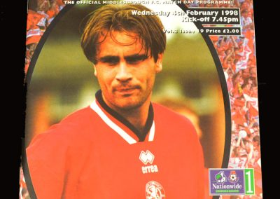 Middlesbrough v Tranmere 04.02.1998