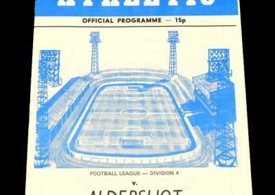 Wigan v Aldershot 30.12.1978