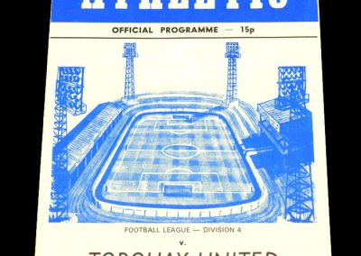 Wigan v Torquay 24.01.1979 (Postponed)