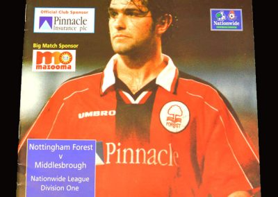 Middlesbrough v Notts Forest 01.03.1998