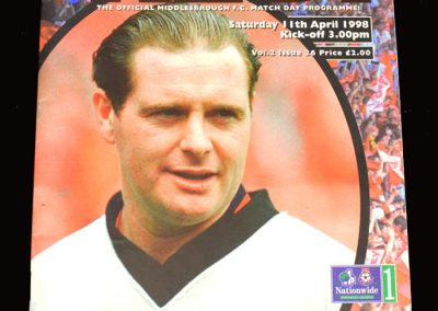 Middlesbrough v Bury 11.04.1998