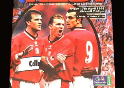 Middlesbrough v Man City 17.04.1998
