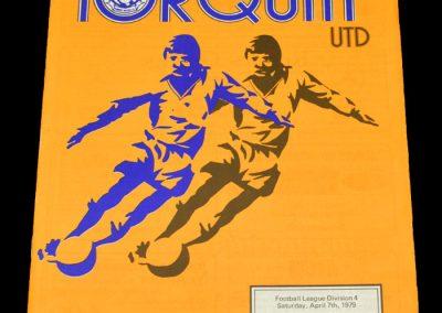 Wigan v Torquay 07.04.1979