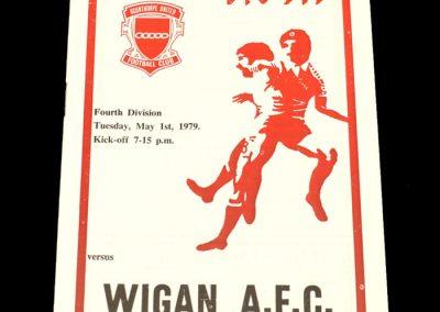 Wigan v Scunthorpe 01.05.1979
