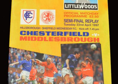 Middlesbrough v Chesterfield 22.04.1997 - FA Cup Semi Final Replay