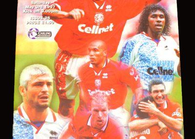 Middlesbrough v Aston Villa 03.05.1997