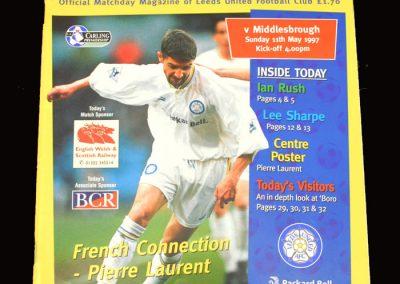 Middlesbrough v Leeds 11.05.1997