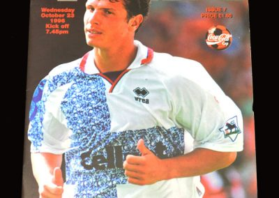 Middlesbrough v Huddersfield 23.10.1996 - League Cup 3rd Round