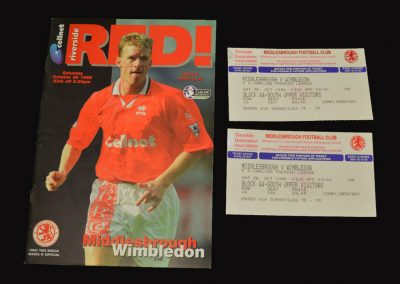 Middlesbrough v Wimbledon 26.10.1996
