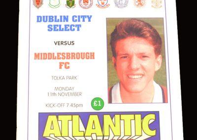 Middlesbrough v Dublin City Select 11.11.1996 - Friendly