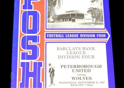 Wolves v Peterborough 16.09.1987
