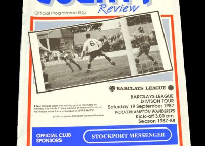 Wolves v Stockport 19.09.1987