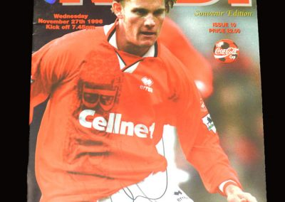 Middlesbrough v Newcastle 27.11.1996 - League Cup 27.11.1996