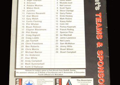 Middlesbrough v Leicester 03.12.1996