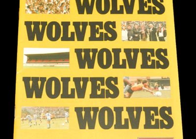 Wolves v Man City 06.10.1987 - League Cup 2nd Round 2nd Leg