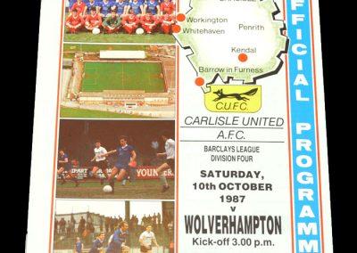 Wolves v Carlisle 10.10.1987