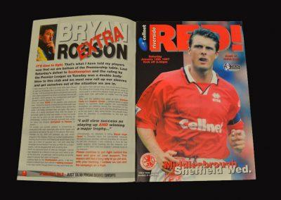 Middlesbrough v Sheff Wed 18.01.1997