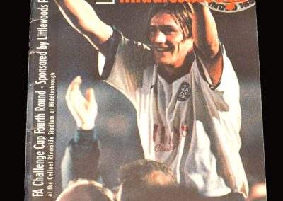 Middlesbrough v Hednesford 25.01.1997 - FA Cup 4th Round