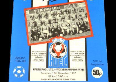 Wolves v Hartlepool 12.12.1987