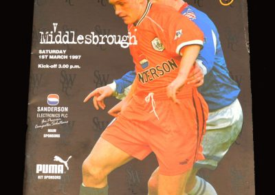 Middlesbrough v Sheff Wed 01.03.1997
