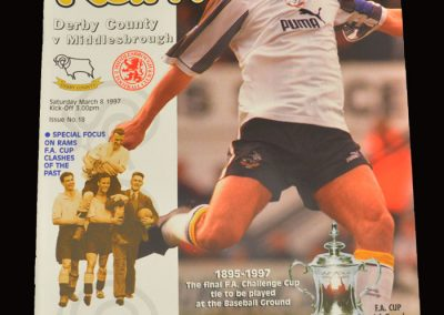 Middlesbrough v Derby 08.03.1997 - FA Cup 6th Round