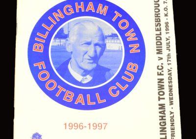 Middlesbrough v Billingham Town 17.07.1996 - Friendly