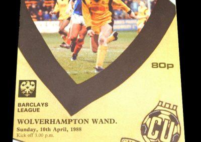 Wolves v Cambridge 10.04.1988