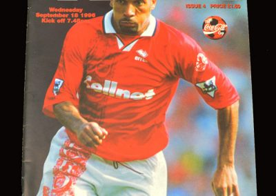 Middlesbrough v Hereford 18.09.1996 - League Cup 2nd Round 1st Leg
