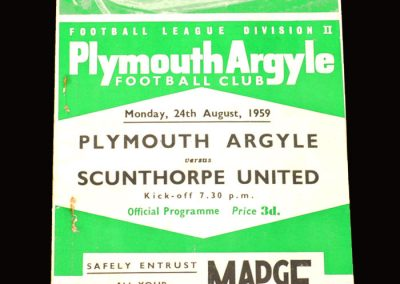 Plymouth v Scunthorpe 24.08.1959 (departure of Gauld)