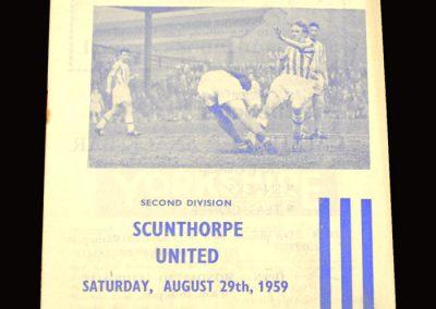 Huddersfield v Scunthorpe 29.08.1959