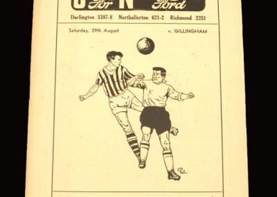 Darlington v Gillingham 29.08.1959