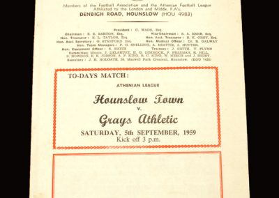 Hounslow v Grays 05.09.1959