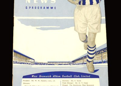 West Brom v Leicester 05.09.1959