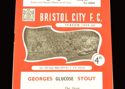 Bristol City v Hull 12.09.1959