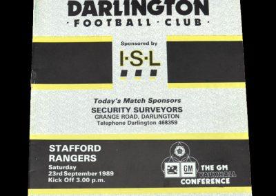 Darlington v Stafford 23.09.1989