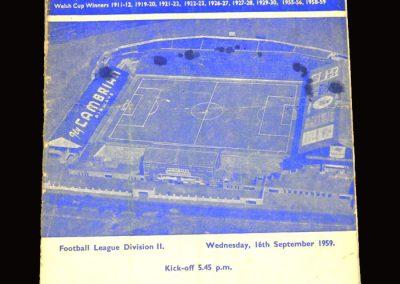 Cardiff v Derby 16.09.1959