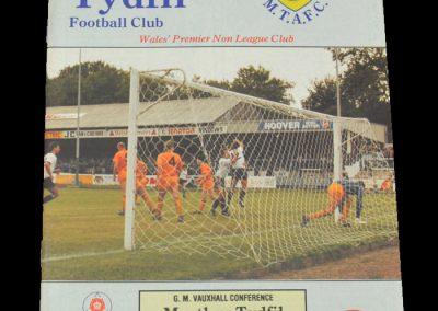 Darlington v Merthyr Tydfil 14.10.1989