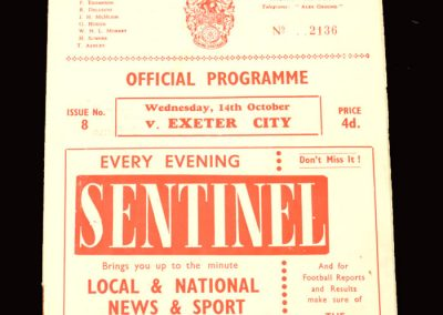 Crewer v Exeter 14.10.1959