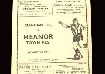 Granthm Reserves v Heanor Town Reserves 31.10.1959