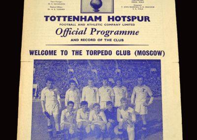 Spurs v Moscow Torpedo 16.11.1959