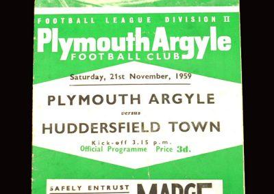 Plymouth v Huddersfield 21.11.1959