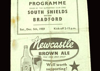 South Shields v Bradford 05.12.1959 - FA Cup 2nd Round
