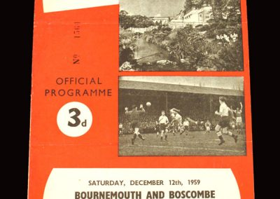 Bournemouth v Southend 12.12.1959